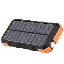 Solar Charger 26800mAh Hiluckey 18W Power Bank with 3.0A Outputs USB C Waterproof Battery Pack for Smartphones, Tablets, MacBook