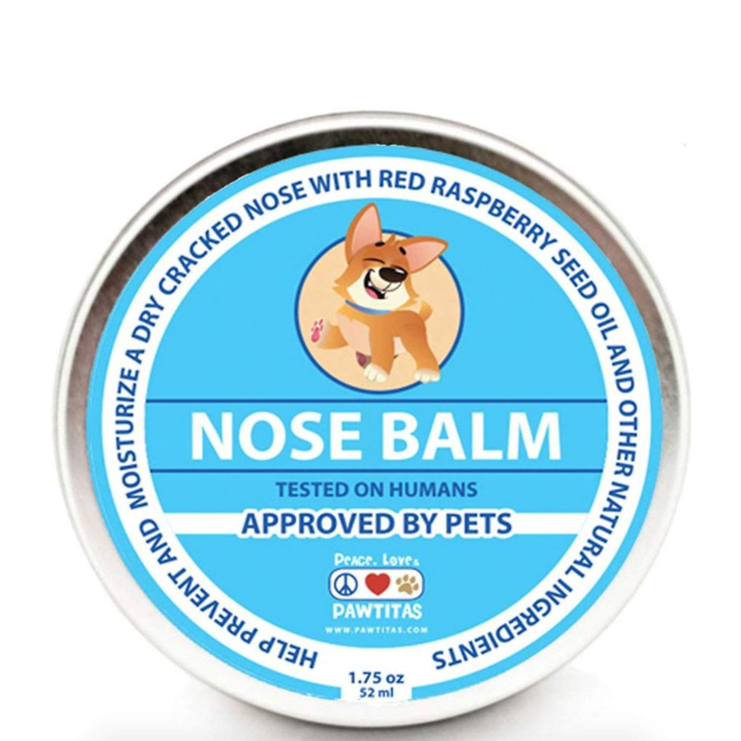Pawtitas Nose Balm for Dogs is Made for Moisturizers Dry, Chapped, Cracked, and Crusty Dog Noses Providing a Layer of Protection on Your Dog Snout. | Manufactured with Certified Organic Ingredients.