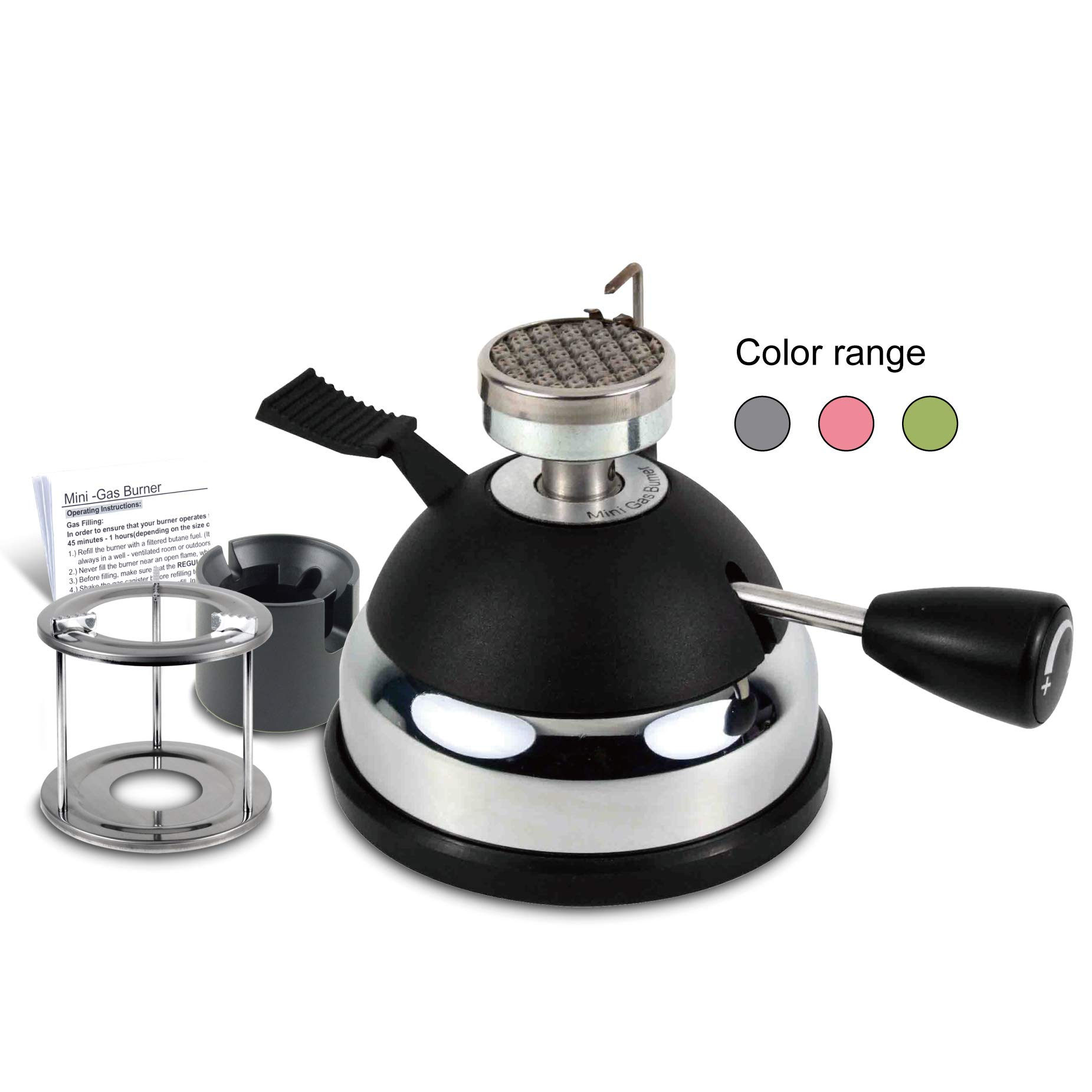 BLUEFIRE Butane Mini Burner for Tabletop Siphons Syphon, w Furnace Stand and Assembly Rack,Ceramic Windproof Torch Head,Portable Cooking Stove,Coffee Espresso Maker,Chafing,Soup Tureens,Fondue,Bunsen