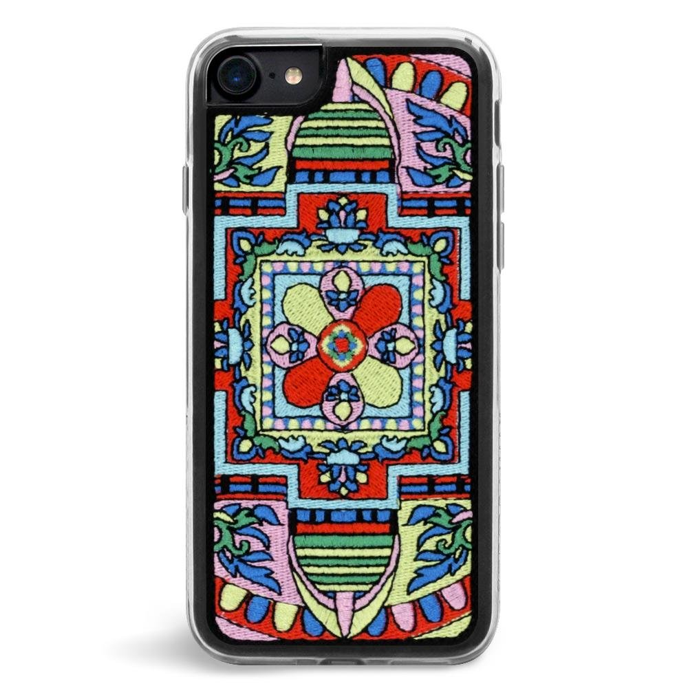 Zero Gravity Case Compatible with iPhone 7/8 Expression Series Embroidered Design - 360° Protection, Drop Test Approved (Mandala)
