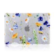 iDonzon MacBook Air 13 inch Case (A1932, 2020 2019 2018 Release), 3D Effect Matte Clear See Through Hard Cover Compatible Mac Air 13.3 inch with Retina Display Touch ID - Floral Pattern