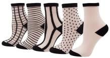 Bienvenu Women's Lady's Transparent Fishnet Mesh Socks Thin Summer Ankle High Tights Hosiery Socks