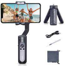 Smartphone Gimbal hohem iSteady X, A Foldable 3-Axis Gimble Stabilizer, with The One-Click Inception and Dolly-Zoom, Supports iPhone 11 pro max and Smartphones (Black)