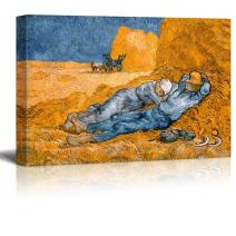 "Noon,Rest from Work by Vincent Van Gogh - Canvas Print Wall Art Famous Painting Reproduction - 24"" x 36"""