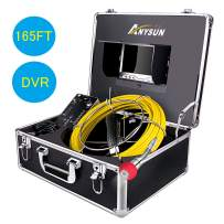 Sewer Inspection Camera 7 inch Screen Drain Snake Cam (Sewer Camera 165FT with DVR)