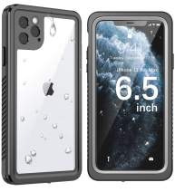 SNOWFOX iPhone 11 Pro Max Waterproof Case, Built-in Screen Protector IP68 Certified Full Body Heavy Duty Protection Underwater Cover Skin for iPhone 11 Pro Max 6.5 Inch 2019