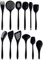 Hutzler Cook & Serve, Set of 12 melamine utensil set, Full, Black