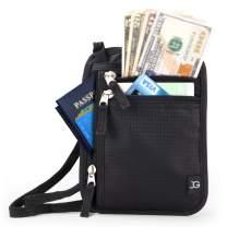 Neck Wallet RFID Blocking- Passport Holder Concealed Travel Pouch Wallet Carrier