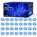 Onforu 32 Pack Fairy Light Battery Operated, Blue Copper Wire Light with 15 LEDs, 4.9ft Mini String Light, IP67 Waterpoof Firefly Starry Light for DIY, Mason Jar, Wedding, Party