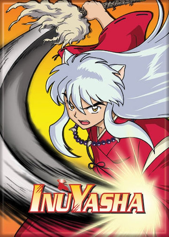 """Ata-Boy Inuyasha in Battle 2.5"""" x 3.5"""" Magnet for Refrigerators and Lockers"""