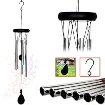AshmanOnline 20 inch Large Deep Tone Sympathy Wind Chimes with 5 Copper Vein Tubes - Tuned Relaxing Melody Gift Decor for Patio, Garden, Home, Balcony, Indoor and Outdoor