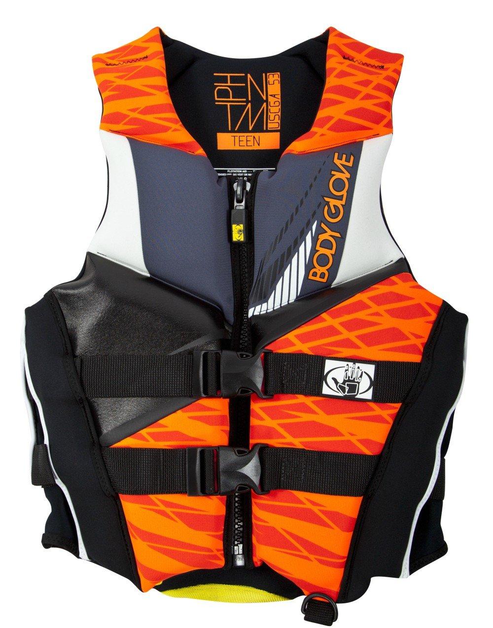Body Glove Men's Phantom Life Jacket, Neoprene Shell, Foam Flotation, Front Zippered Opening, USCG Approved