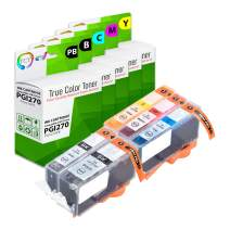 TCT Compatible Ink Cartridge Replacement for Canon PGI-270 CLI-271 Works with Canon Pixma MG5720 MG5721 MG5722 MG6820 MG5720 MG7720 Printers (Pigment Black, Black, Cyan, Magenta, Yellow) - 5 Pack