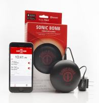 Sonic Bomb Bluetooth Portable Super Bed Shaker Alarm/Powerful Vibrations Guaranteed to Wake Even The Heaviest Sleepers, Hard to Wake, Hearing Challenged, Seniors, Teens and Couples