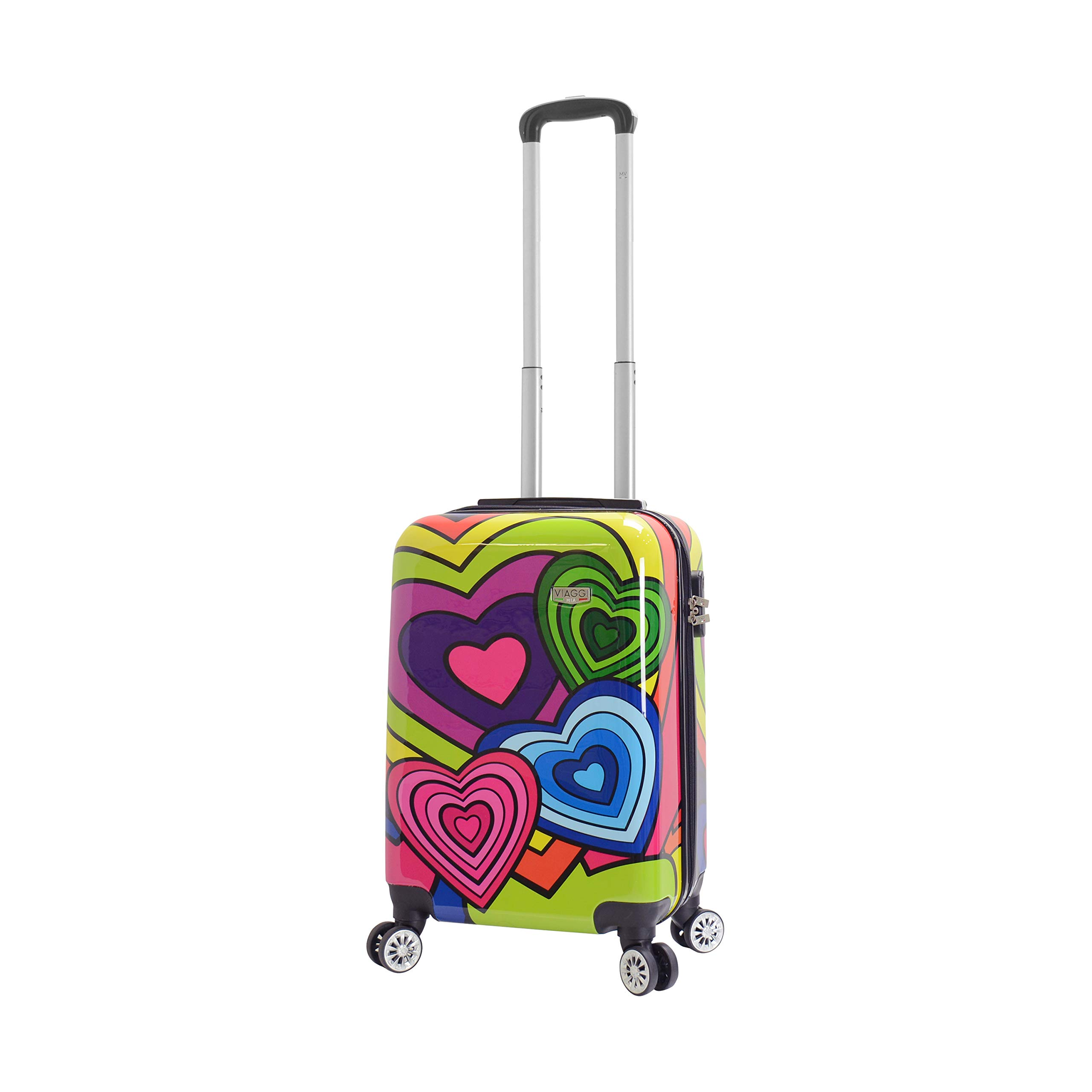 Viaggi Mia Italy Hardside Spinner Carry-on, Pop Heart