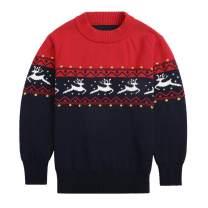 Sooxiwood Little Boys Sweater Christmas O-Neck Long Sleeve