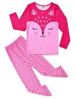 Jxstar Girls Unicorn Pajamas Kids Cotton Set Sleepwear 2 Piece Long/Short Sleeve