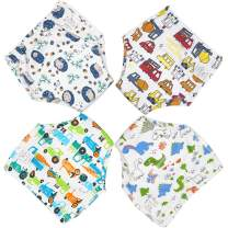 Zumou Toddler Training Pants Cotton Potty Training Underwear for Baby Boys Girls 4 Pack