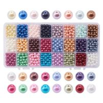 PandaHall Elite 1440pcs 6mm Tiny Satin Luster Glass Pearl Bead Round Loose Beads for Jewelry Making 24 Colors