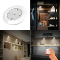 iMounTEK Cordless Battery Powered LED Night Safe Lights W/Remote Control. Adjustable Brightness Levels/Auto Turn Off/Sticks On Surfaces-Patio/Closet/Stairs/Hallway/Bathroom/Bedroom/Kitchen [3 Pack]