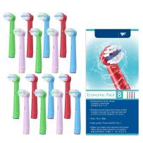 VINFANY Kids Toothbrush Heads for Oral B Electric Rechargeable Toothbrush, Kids Replacement Toothbrush Heads for Oral-b Compatible for Vitality 3D All Compatible 16pcs ¡