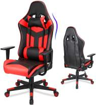 Acethrone Gaming Chair Ergonomic Video Game Chair Backrest and Seat Height Adjustable Swivel Recliner Racing Office Chair with Lumbar Pillow Esports Chair (Red)