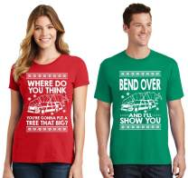 SignatureTshirts Matching Couples Ugly Christmas Sweater Bend Over Shirt Todd and Margo Short Sleeve T-Shirt