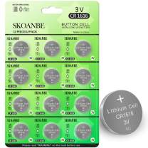 SKOANBE 12PCS 3V CR1616 Lithium Coin Cell CR 1616 Battery