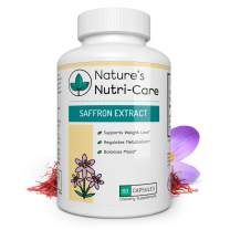 Nature's Nutri-Care Pure Saffron Extract - 88.5 mg - 60 or 180 Capsules - Appetite Suppressant and Metabolism Booster Weight Loss Supplement - Made in USA, 60