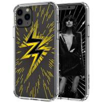 MOSNOVO iPhone 11 Pro Max Case, Lightning Pattern Printed Clear Design Transparent Plastic Hard Back Case with TPU Bumper Protective Case Cover for iPhone 11 Pro Max
