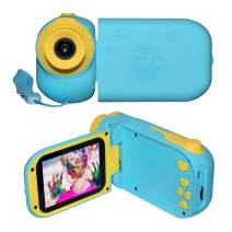 """Lampelc Digital Camera for Kids, 1080P FHD Kids Camcorder Video Camera with 2.4"""" Screen and 32GB SD Card for Age 3-10 Boys Girls Gift"""