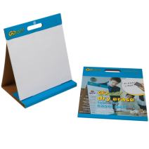 GoWrite Dry Erase Tabletop Non-Adhesive Easel Pad with Carrying Handle, 16 x 15 Inches, White, 10 Sheets