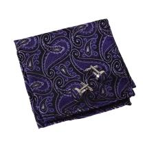 Epoint Men's Fashion Multi Paisley Hanky Cufflinks Microfiber Pocket Square For Formal