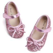 Felix & Flora Toddler Little Girl Mary Jane Dress Shoes - Ballet Flats for Girl Party School Shoes