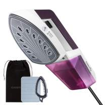 EASEHOLD Steam Iron Garment Steamer Clothes Steamer Handheld 2 in 1 Flat and Hang Dry and Steamer Ironing Portable for Travel Dewrinkle Fabric (Purple)