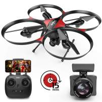 [Upgraded Big Size] DROCON Drone with Camera,720P 120°FOV FPV Real-time Video, Quadcopter Designed for Beginners with a 15-min Flight Time Modular Battery, Altitude Hold, 4GB TF Card Included