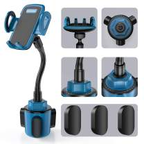 Car Cup Holder Phone Mount, Sopownic Cup Phone Holder for Car Universal Adjustable Gooseneck Car Phone Holder for iPhone 11 Pro/11/X/8/7/6s/ Galaxy S10/S9/Note 10/9/8 GPS and More -Blue