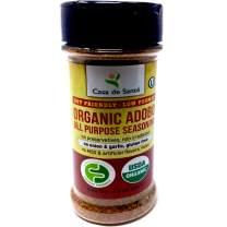 Organic Low FODMAP Certified Paleo Seasoning (Adobo)|No Onion No Garlic, Gluten Free, Low Salt, No Carb, Keto, Whole30, Kosher, All Natural, No GMO, Non Irradiated, Popcorn Seasoning-Casa de Sante