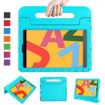 LTROP iPad 10.2 Case, iPad 7th Generation Case, iPad 10.2 2019 Case for Kids, Light Weight Shock Proof Stand Handle Kids Case for Apple iPad 7 10.2-Inch 2019 Latest Model and Air 3 - Turquoise