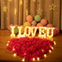 I LOVE U-Brightown Decorative Plastic LED Marquee Letter Light Up Letters Sign Home Party Wedding Night Light Decoration Battery Operated