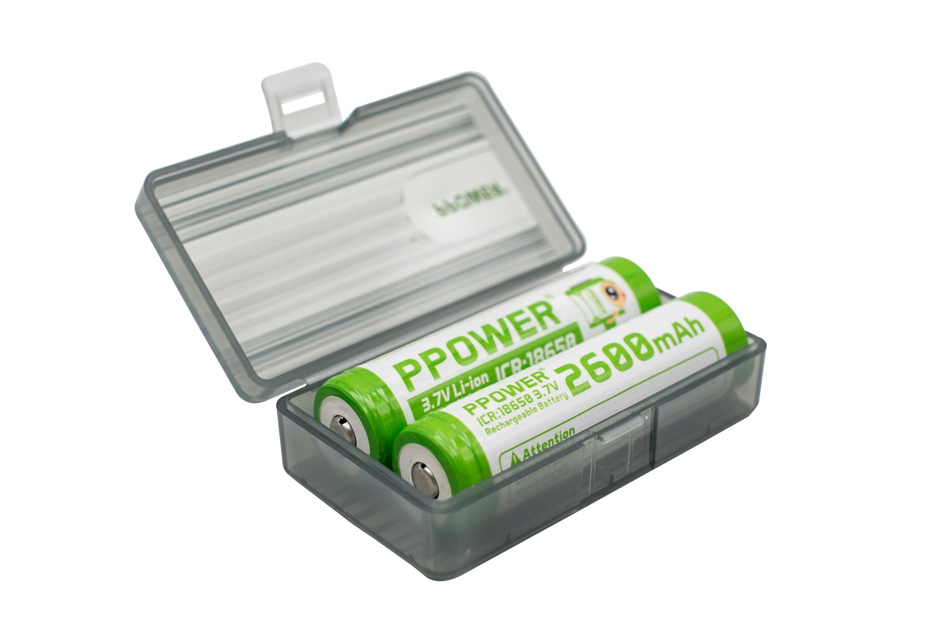 1X Ppower Grey Battery Box, Storage Box, for 4X cr123, RCR123A, RCR123 Batteries, Battery case (Batteries are not Included) P-Power