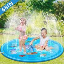 """Tigerhu Sprinkler for Kids, Splash Plat Mat, and Wading Pool for Learning – Boys's and Girls's Sprinkler Pool, 68"""" Inflatable Water Toys – Outdoor Swimming Pool for Babies and Toddlers"""