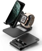 Ringke Super Folding Stand, 2 in 1 Portable Smartphone & Smartwatch Stand Compatible with Apple Watch 5, iWatch 4, iWatch 3, iWatch 2, iWatch 1, iPad Mini, Nintendo Switch