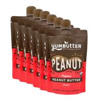 Organic Peanut Butter by Yumbutter, USDA Organic, Gluten Free, Vegan, Non GMO, 6.2oz Pouch (Pack of 6)