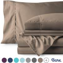 Bare Home 6 Piece 1800 Collection Deep Pocket Bed Sheet Set - Ultra-Soft Hypoallergenic - 2 Extra Pillowcases (Full, Taupe)