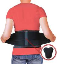 AidBrace Back Brace for Lower Back Pain Relief for Men & Women - Comfortable Belt Support for Herniated Disc, Sciatica, and Scoliosis with Removable Lumbar Pad (L/XL)