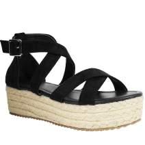 Athlefit Women's Comfy Bunion Shoes Platform Slipper Big Toe Slide Wedge Sandals