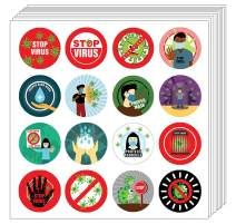 Creanoso Stop Virus Stickers (10-Sheet) - Classroom Reward Incentives for Students and Children - Stocking Stuffers Party Favors & Giveaways for Teens & Adults
