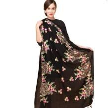DANA XU Embroidery 100% Pure Wool Pashmina Shawls and Wraps …
