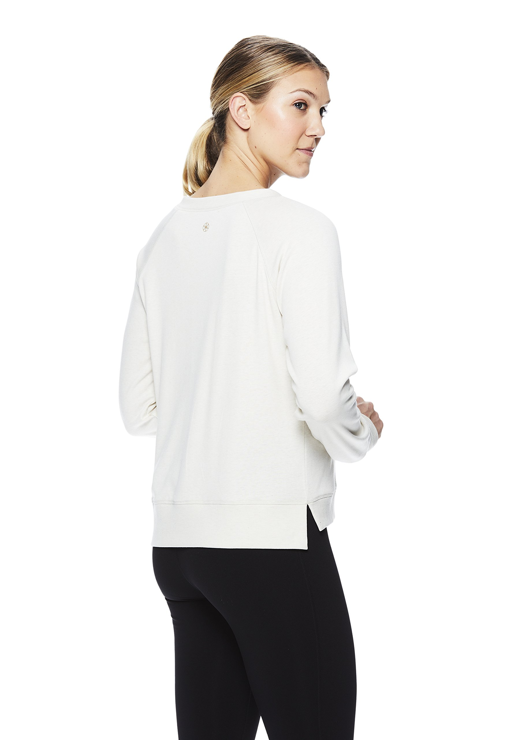 Gaiam Women's Pullover Yoga Sweater - Long Sleeve Graphic Activewear Shirt